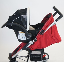 Babyhood Stealth 4 Stroller with Maxi Cosi
