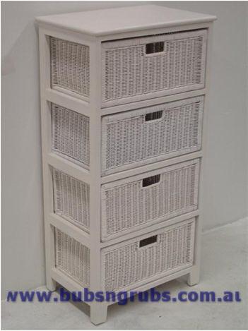 4 drawer storage unit white 2