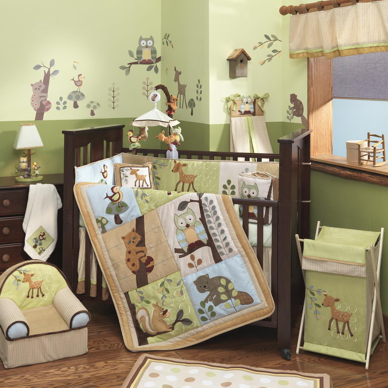 Lambs Amp Ivy Enchanted Forest 6 Piece Baby Bedding Set