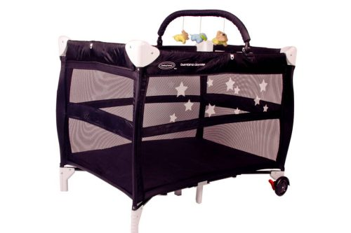 Babyhood Bambino Dormire Portacot Black with Optional Toy Bar