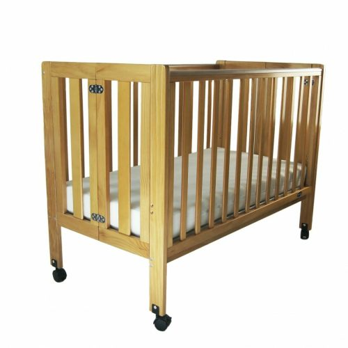Babyhood Fold n Go Folding Cot Drop Side Up with Mattress