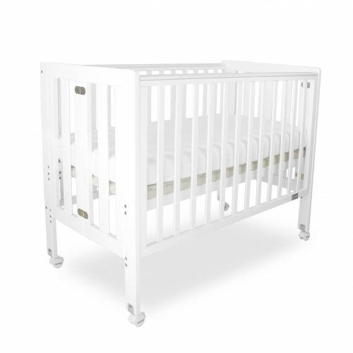 Babyhood Fold N Go Folding Cot White Bassinet