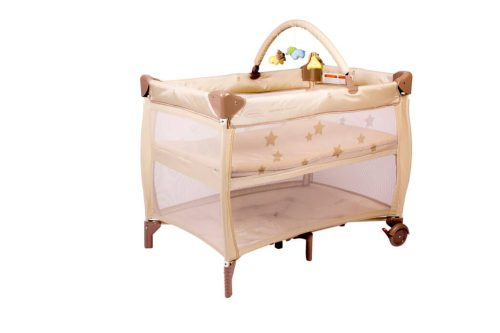 Babyhood Bambino Dormire Portacot Latte Bassinet Level with Optional Toy Bar