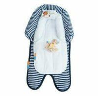Babyhood 2 in 1 Head Support Navy Stripe