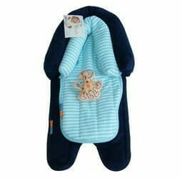 Babyhood 2 in 1 Head Support Navy Turquoise