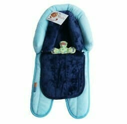 Babyhood 2 in 1 Head Support Turquoise Navy