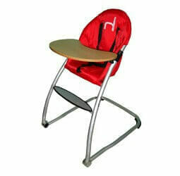 Babyhood Home Range High Chair Red