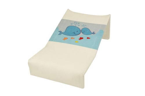 Babyhood Mesh Bath Support - White with Whales