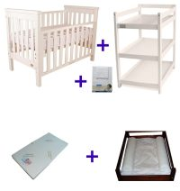 Babyhood Milano Cot 5 Pce Package Deal White No Text