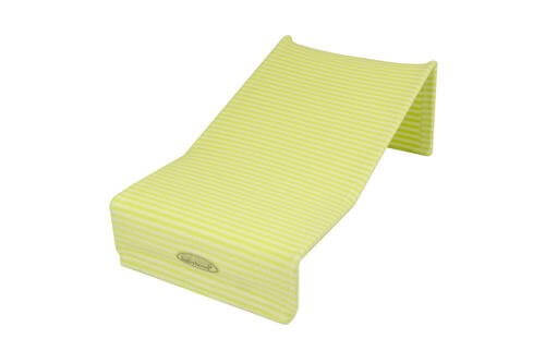 Babyhood Terry Towelling Bath Support - Lime Stripes