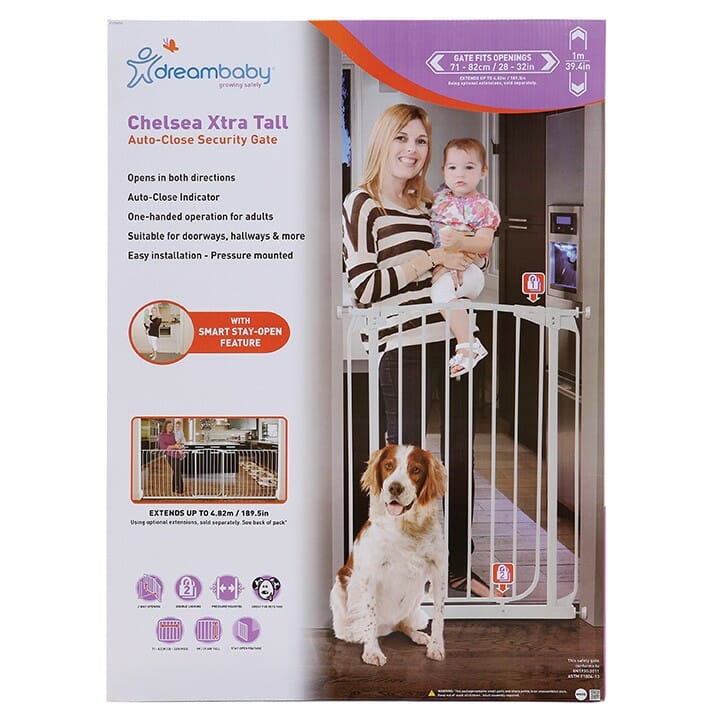 Dreambaby Chelsea Xtra-Tall Auto-Close Security Gate packaging