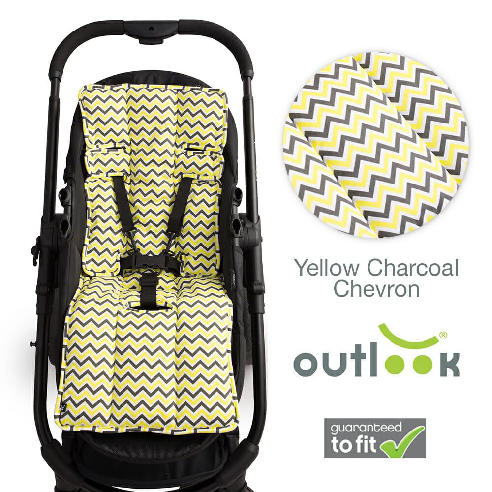 Yellow Charcoal Chevron