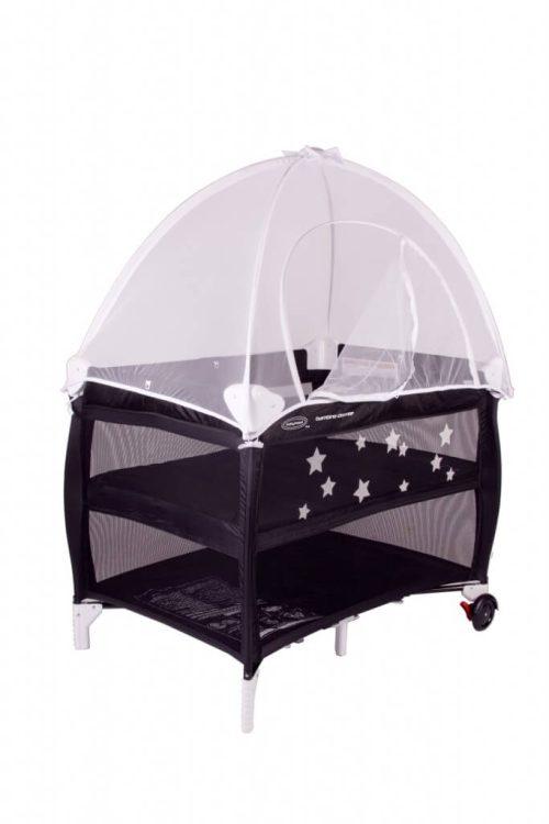 Portacot Canopy Net Corner View Open