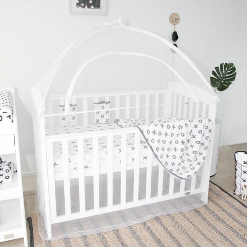 babyhood Cot Canopy white Lifestyle