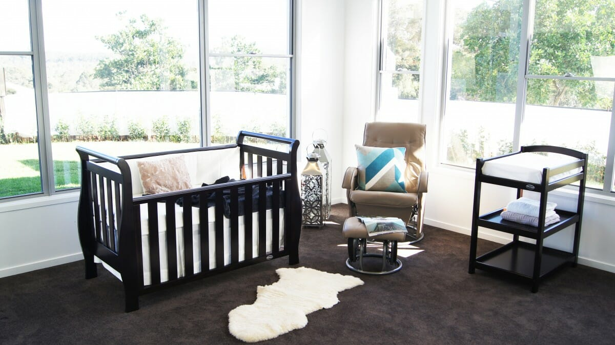 babyhood Georgia Sleigh Luxx English Oak Lifestyle