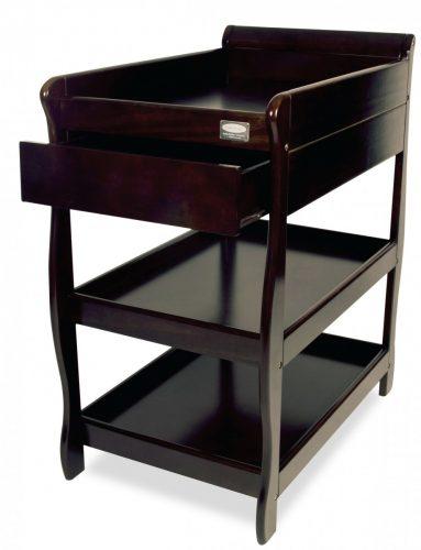 babyhood Sleigh Change Table With Draw English Oak open