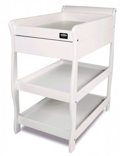 babyhood Sleigh Change Table With Draw white