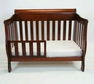 Babyhood Amani Sleigh Cot as Toddler Bed