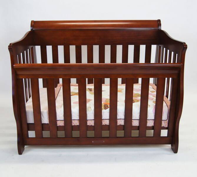 Babyhood Amani Sleigh Cot Walnut