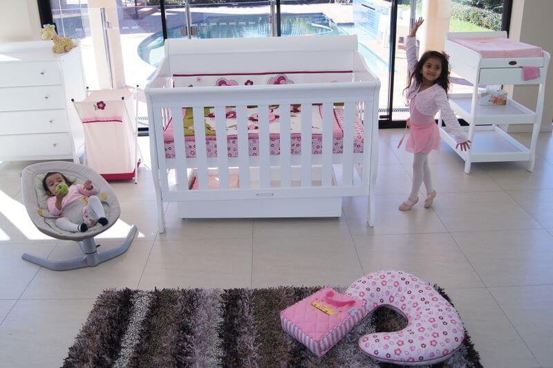 Babyhood Amani Sleigh Cot White