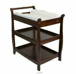 Babyhood Georgia Sleigh Change Table Walnut