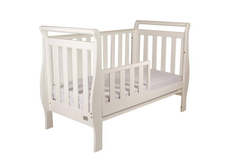 Babyhood Georgia Sleigh Cot White