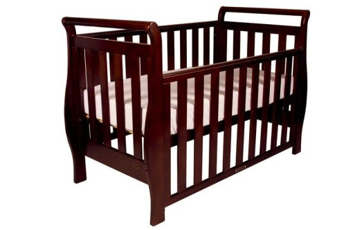 Babyhood Georgia Sleigh Cot Walnut