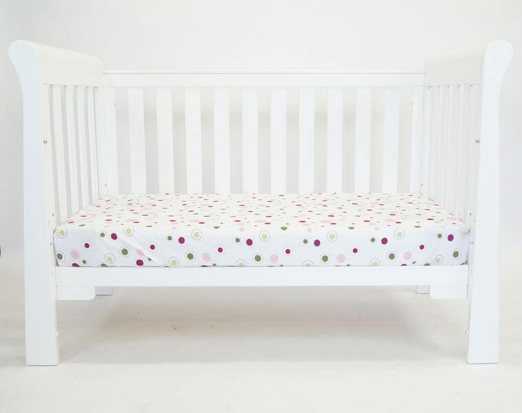Babyhood Sandton Sleigh Cot configured as a Day Bed