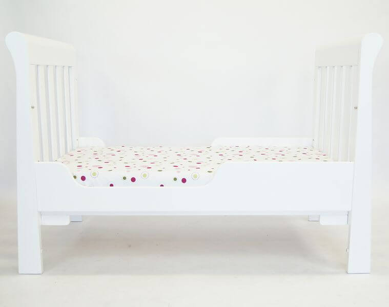 Babyhood Sandton Sleigh Cot White as Toddler Bed