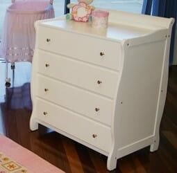 Babyhood Sleigh Dresser White
