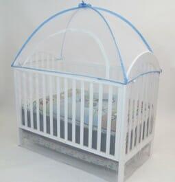 Cot Canopy Net Blue