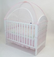 Cot Canopy Net Pink