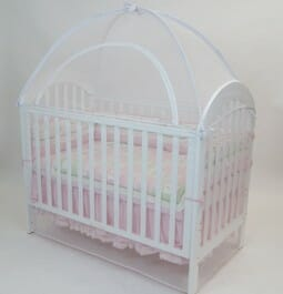 Cot Canopy Net White