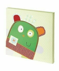 Mamas and Papas Gingerbread Canvas Picture Green Monster