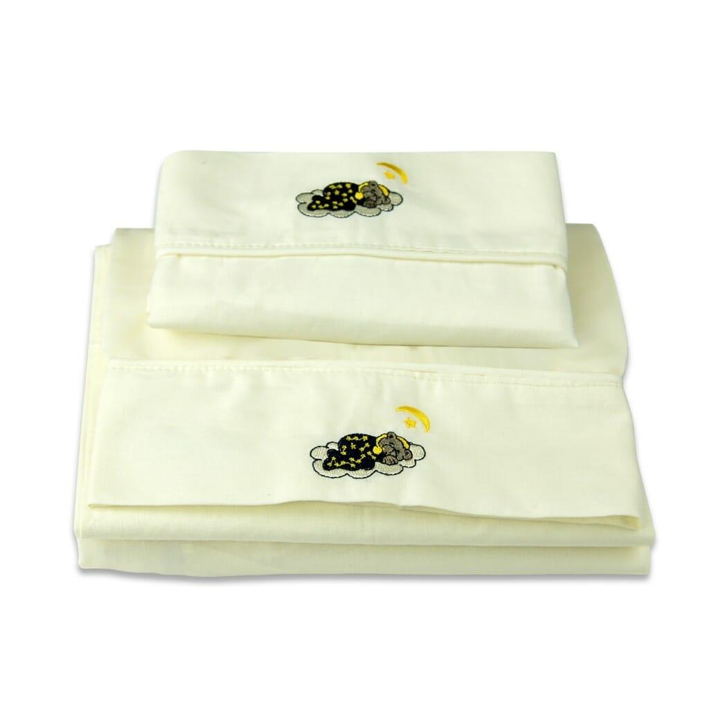 Cradle Sheet Set Sleepy Bear
