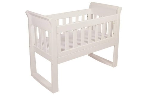 Babyhood Sandton Sleigh Cradle White