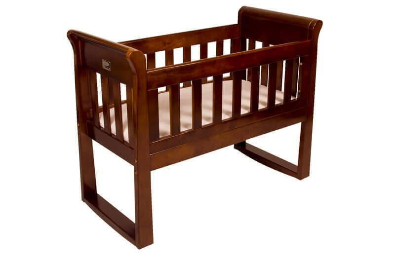 Sandton Sleigh Cradle Walnut