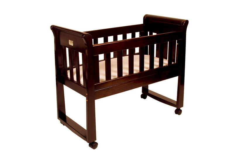 Sandton Sleigh Cradle English Oak
