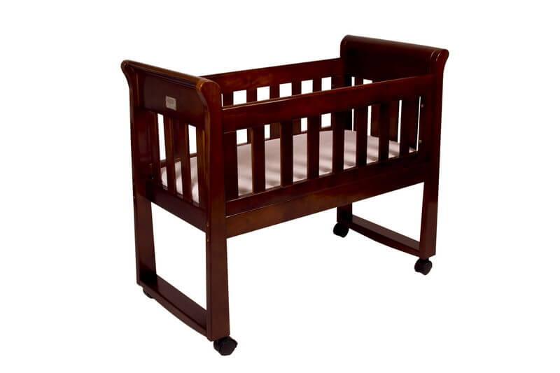 Babyhood Sandton Sleigh Cradle Walnut