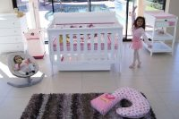 Babyhood Amani Cot & Change Table White