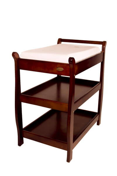 Babyhood Sleigh Change Table Walnut