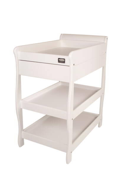 Babyhood Sleigh Change Table with Drawer White