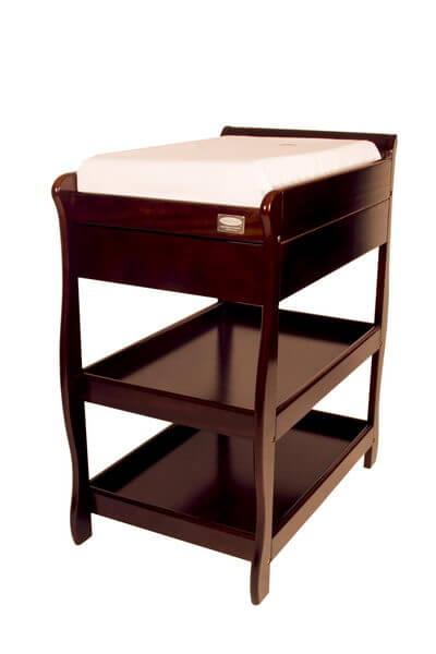 Babyhood Sleigh Change Table with Drawer English Oak