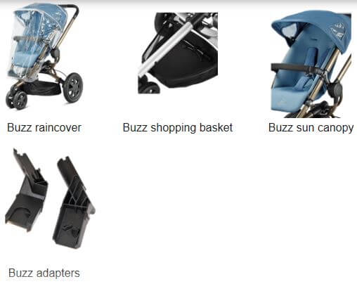 Quinny Buzz Included Accessories