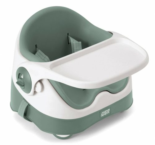Mamas and Papas Baby Bud Soft Teal 3 quarter with tray