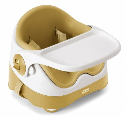Mamas and Papas Baby Bud Yellow 3 quarter with tray