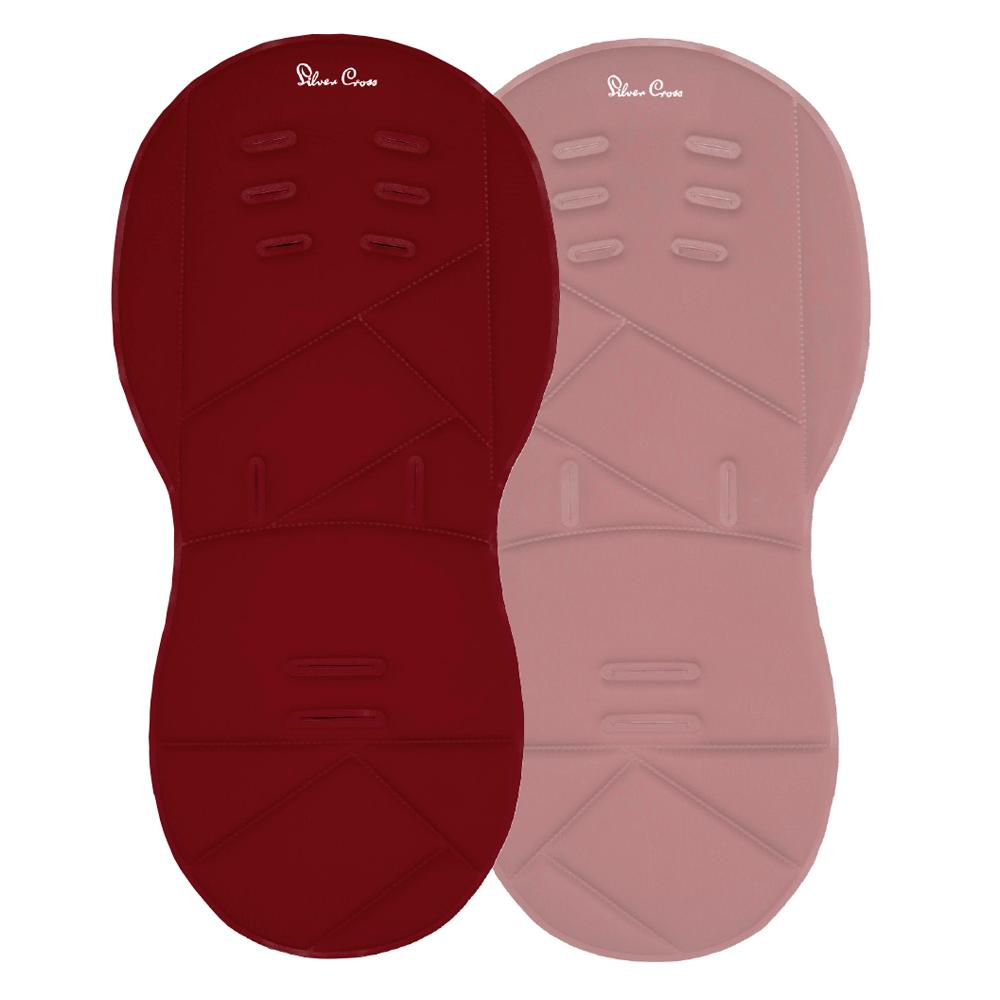 Silver Cross Reversible Pram Liner - Vintage Red Vintage Pink