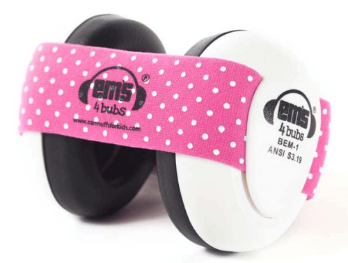 Ems 4 Bubs Baby Ear Muffs Pink White