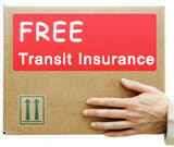 Free Transit Insurance means should your item be lost or stolen in Transit - We have you covered!