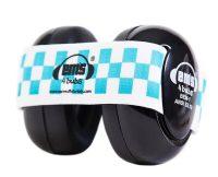 Em's 4 Bubs Black Baby Earmuffs - Blue White
